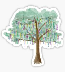 Mardi Gras Tree - Aquarell Sticker
