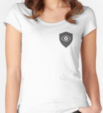 The security and privacy logo Women's Fitted Scoop T-Shirt