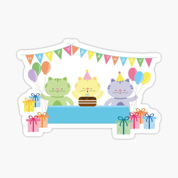 Happy Cat Birthday! Sticker
