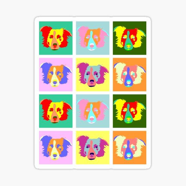 Border Collie Pop Art Sticker