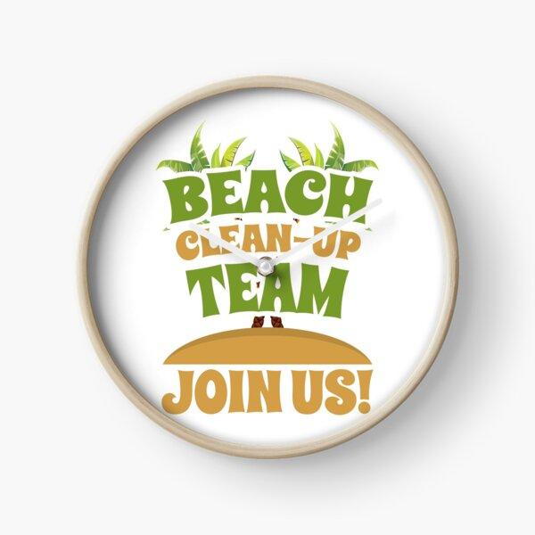 Beach Clean-Up Team - Join Us! Coast Cleanup Clock