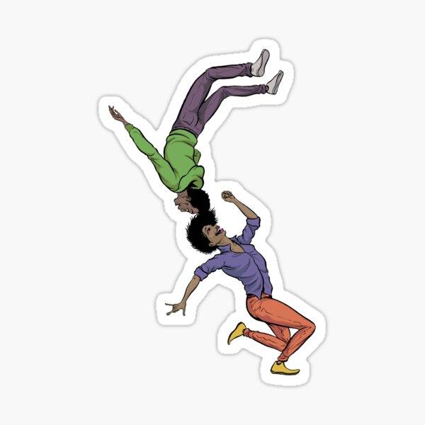 Flipping Dancers Sticker