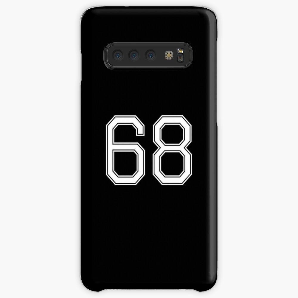 Nummer 68 American Football Spielernummer Sport Design Hülle & Klebefolie für Samsung Galaxy
