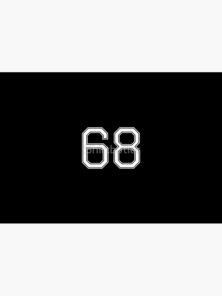 Nummer 68 American Football Spielernummer Sport Design von Shirtbutler