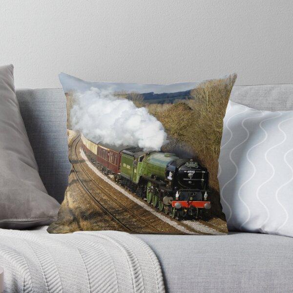 Tornado 60163 Steam Locomotive Throw Pillow