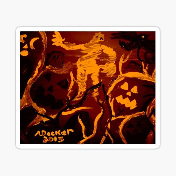 Halloween Shadows Orange Remix Sticker