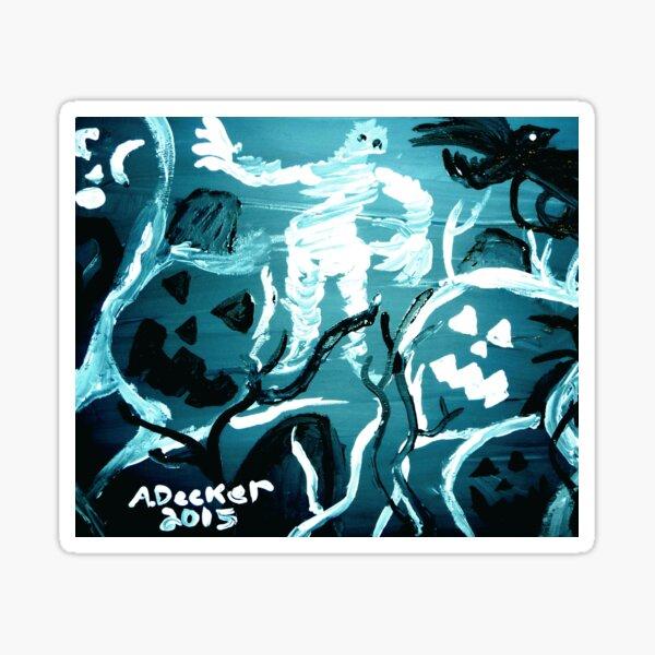 Halloween Shadows Chilling Blue Remix Sticker