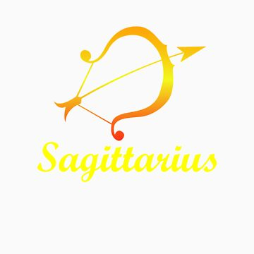 Sagittarius Fire Sign Graphic Zodiac Birthday Gift Idea Horoscope Design by orangepieces