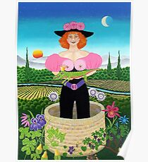 dame de la fontaine - drosera weisse Poster