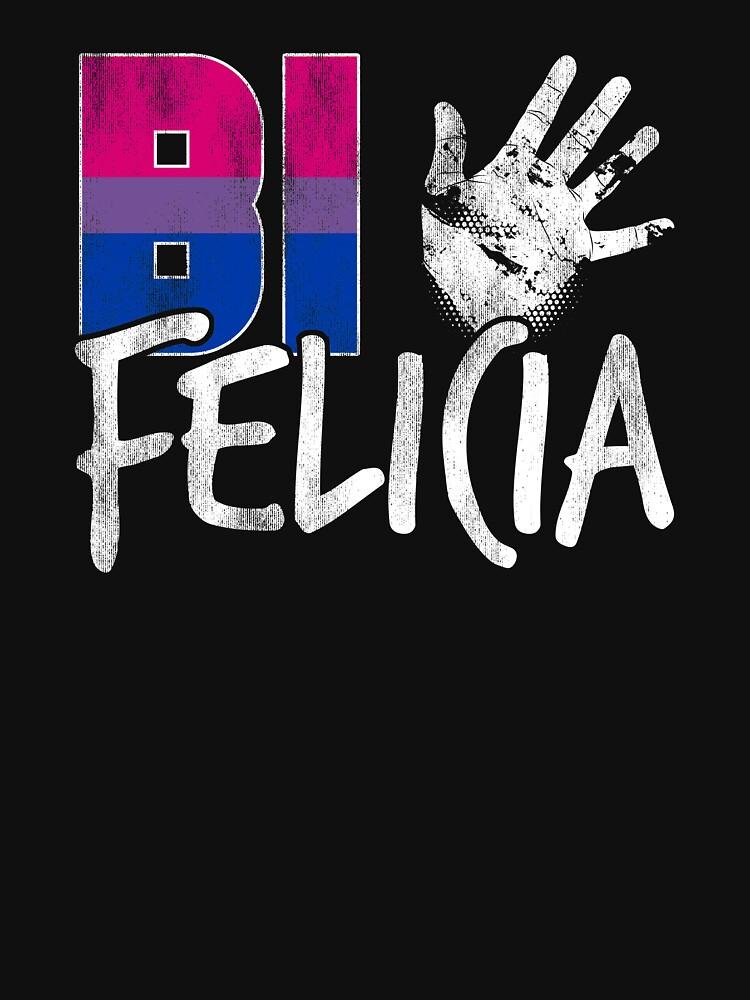 Bi Felicia Funny Bisexual Pride Flag by valador