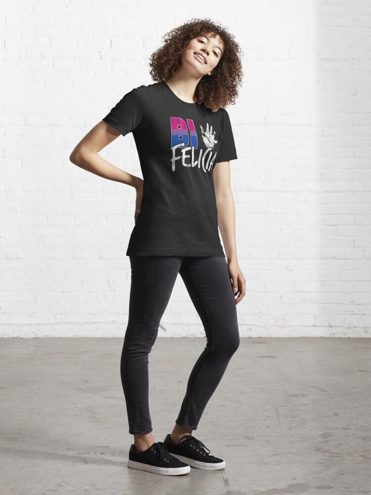 Alternate view of Bi Felicia Funny Bisexual Pride Flag Essential T-Shirt
