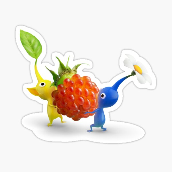 yellow and blue pikmin Sticker