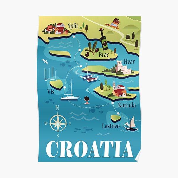 Croatia Travel Poster Poster