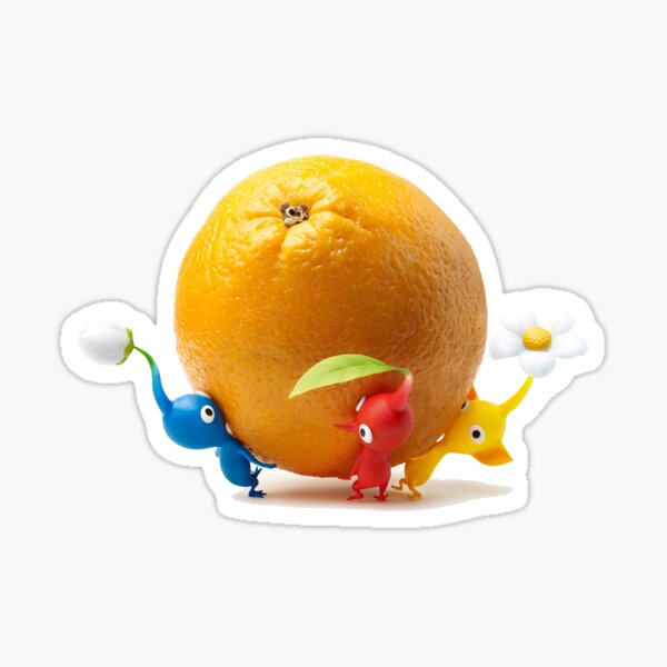 red, yellow, and blue pikmin Sticker