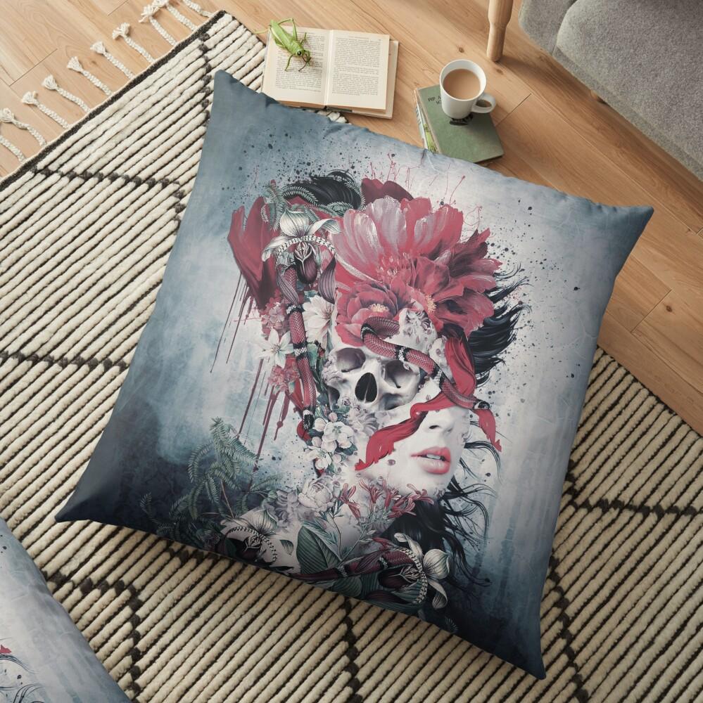 Skull Face Floor Pillow