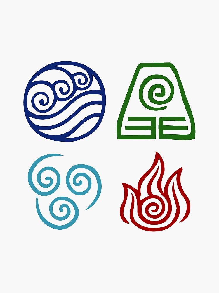 Avatar Element Symbols by lonelycubone