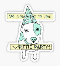 Pittie Party Sticker