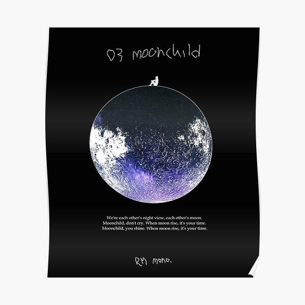 RM Mono. - Moonchild Dark Blue Poster