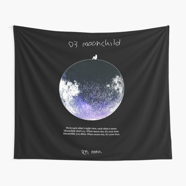 RM Mono. - Moonchild Dark Blue Tapestry