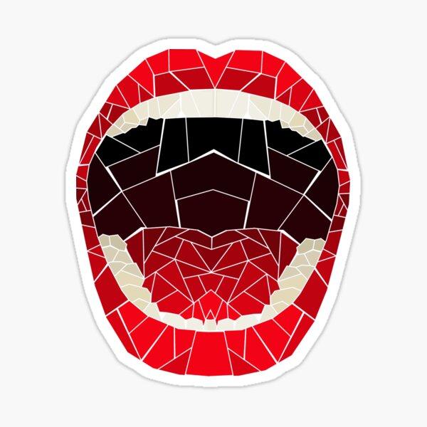 zerbrochener Glasmund Sticker
