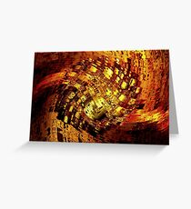 Color Me Brown Gold Greeting Card