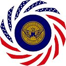 Atlanta Murican Patriot Flag Series by Carbon-Fibre Media