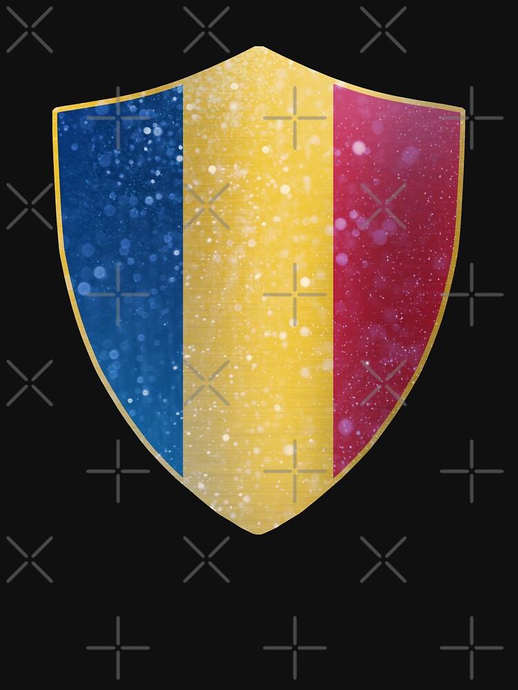 Romania Flag Shield by ockshirts