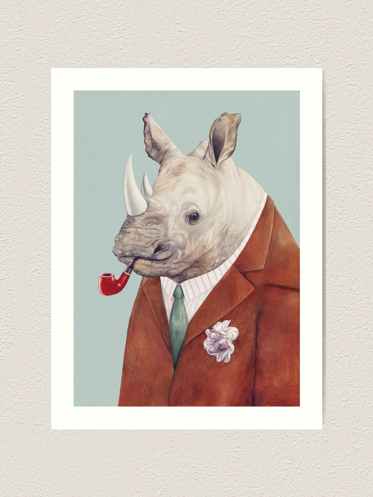 Alternate view of Rhinoceros Art Print