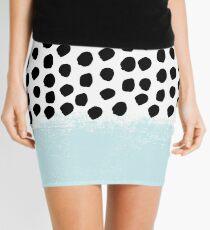 Lolita - Modern mint dots abstract painting minimal design trendy hipster decor dorm office retail  Mini Skirt