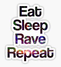 Pegatina Eat Sleep Rave Repeat