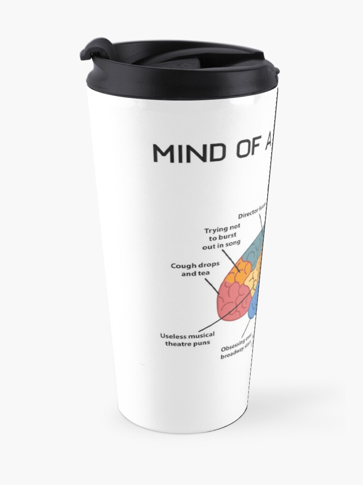 Alternate view of Mind of A Theater Kid Funny Musical Broadway Theater Nerd Actor Actress Drama Tee Gift Travel Mug