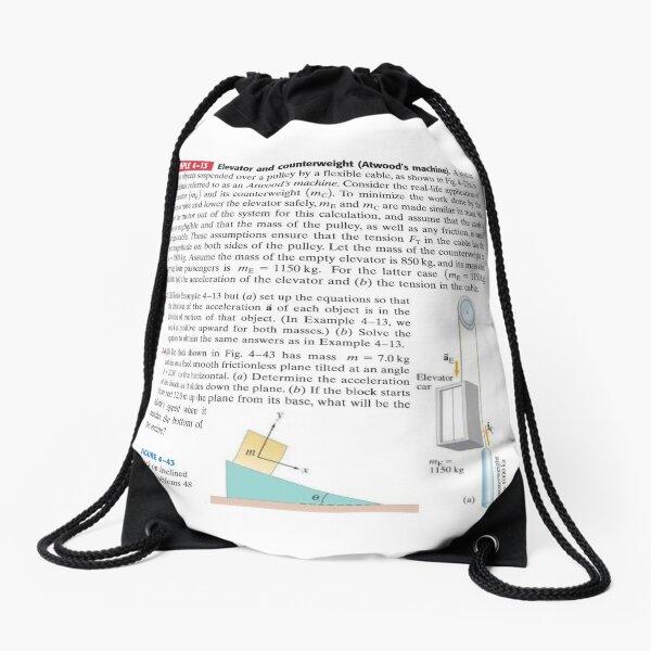 Physics Problems Education Mechanics Drawstring Bag