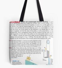 Physics Problems Education Mechanics Tote Bag