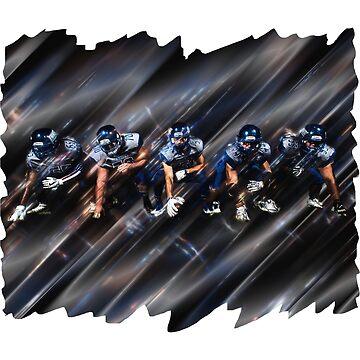 Football Game  Sports Team Players by GabiBlaze