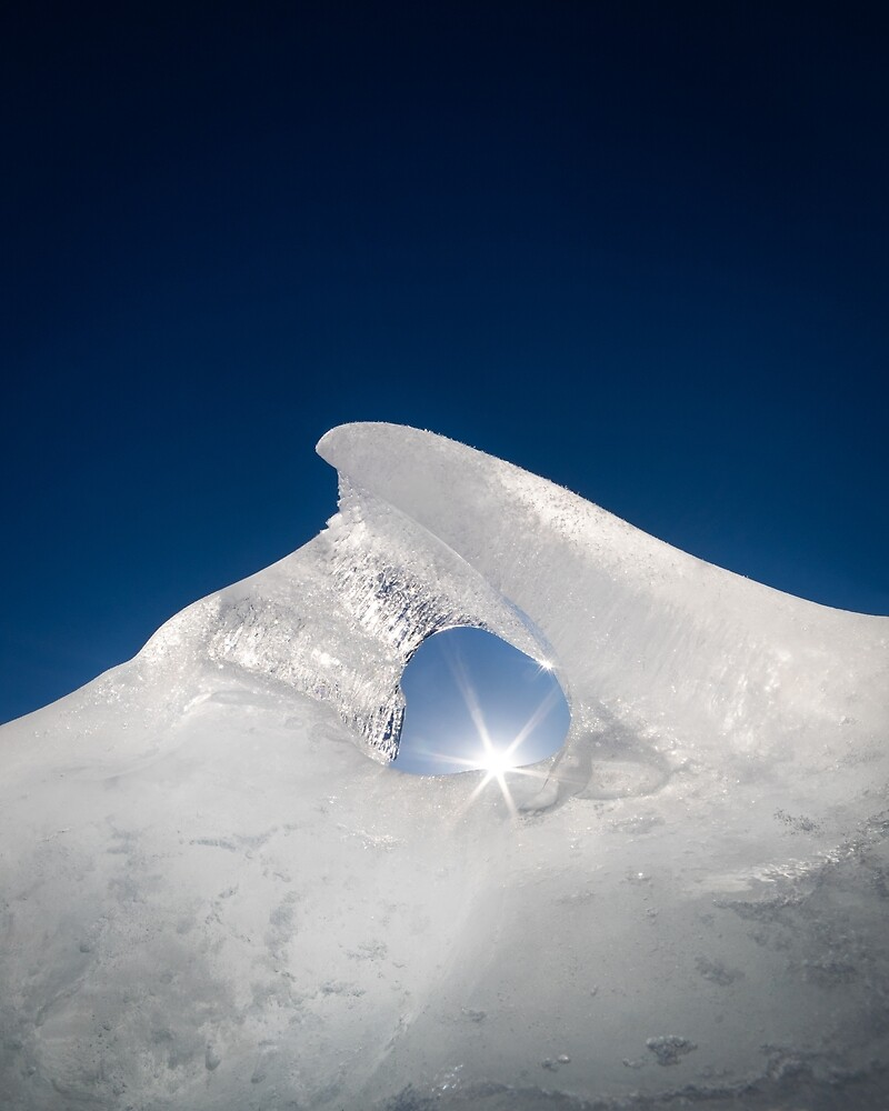 Eisbildung durch Sonnenlicht beleuchtet von Juhani Viitanen