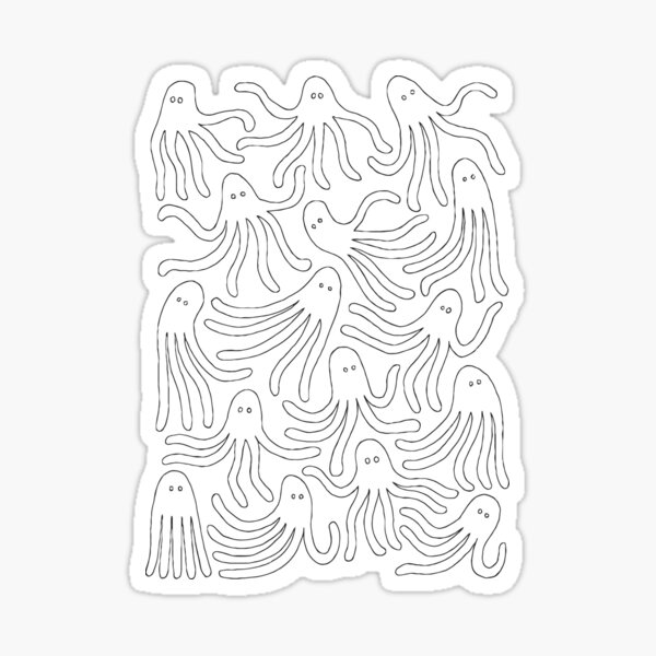 A Party of Handicapped Octopi Sticker