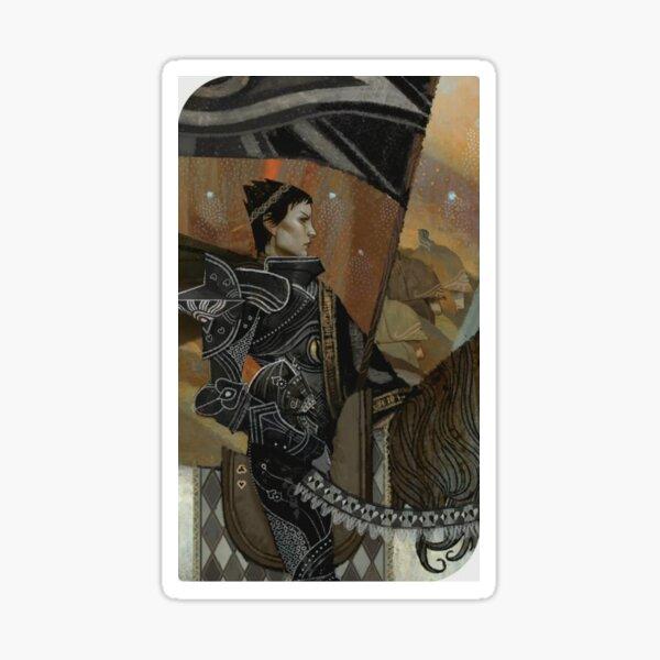 Dragon Age Inquisition Cassandra Tarot card Sticker