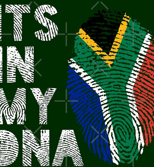 Its In My DNA South Africa Flag Fingerprint by d247