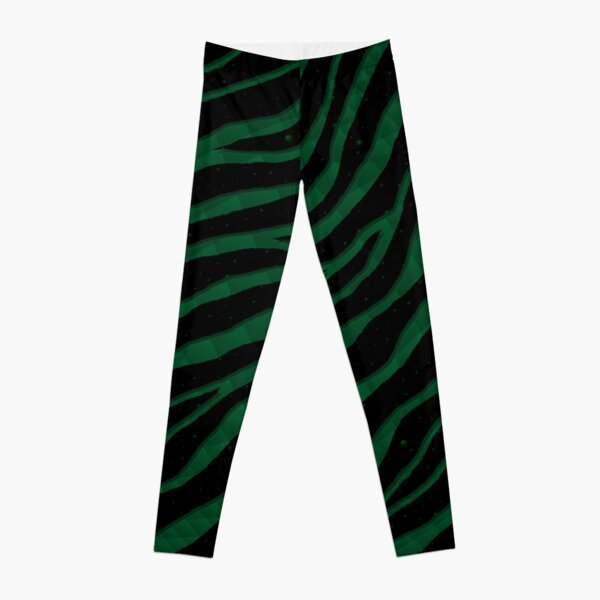 Ripped SpaceTime Stripes - Forest Leggings