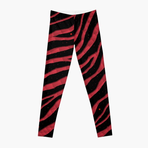 Ripped SpaceTime Stripes - Coral Leggings