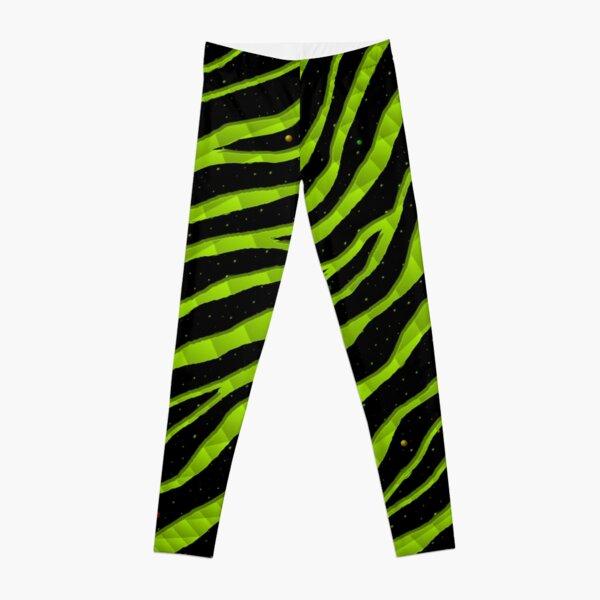 Ripped SpaceTime Stripes - Lime Leggings