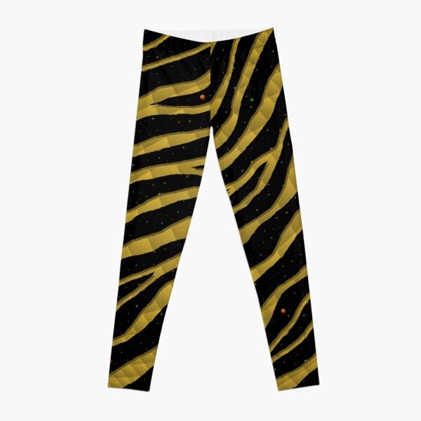 Ripped SpaceTime Stripes - Gold Leggings