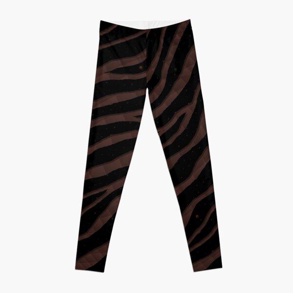 Ripped SpaceTime Stripes - Brown Leggings