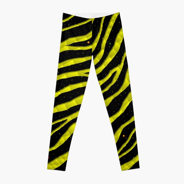 Ripped SpaceTime Stripes - Yellow Leggings