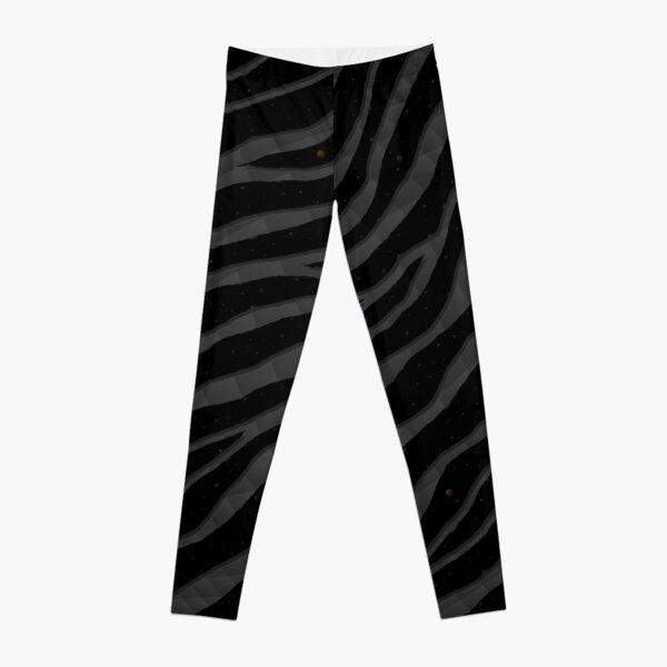 Ripped SpaceTime Stripes - Black Leggings