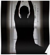 Yoga - Tree Pose Silhouette Poster