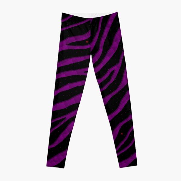 Ripped SpaceTime Stripes - Purple Leggings