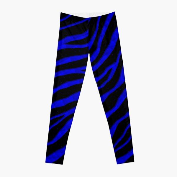 Ripped SpaceTime Stripes - Blue Leggings