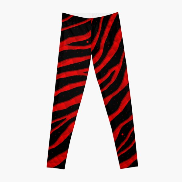 Ripped SpaceTime Stripes - Red Leggings