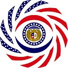 Missouri Murican Patriot Flag Series by Carbon-Fibre Media